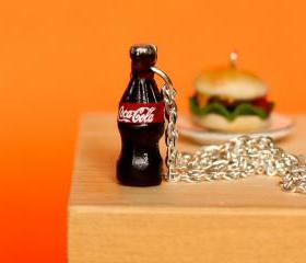 Coke drink necklace